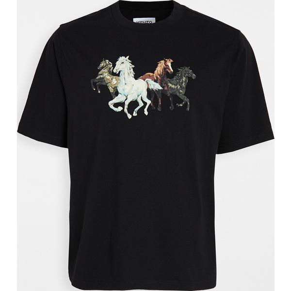 (取寄)ケンゾー シュヴォー ケンゾー Tシャツ KENZO 'Chevaux Kenzo' T-Shirt Black