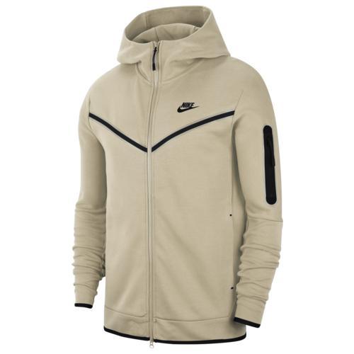 (取寄)ナイキ メンズ テック フリース フルジップ フーディ Nike Men's Tech Fleece Full-Zip Hoodie Light Bone Black