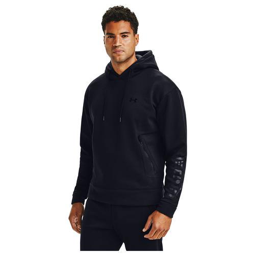 (取寄)アンダーアーマー メンズ リカバー フリース プルオーバー グラフィック フーディ Underarmour Men's Recover Fleece Pullover Graphic Hoodie Black Black