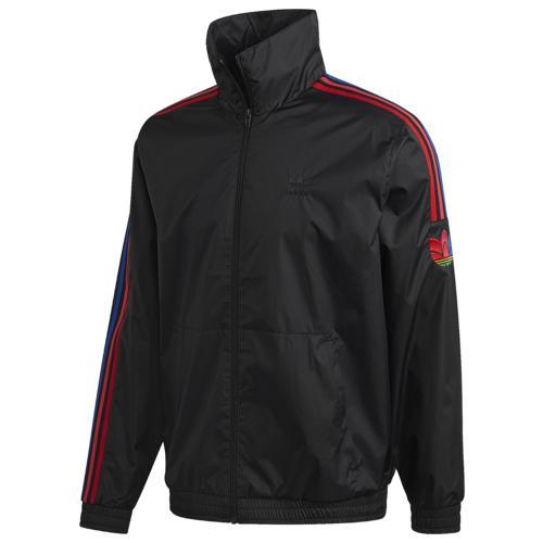 (取寄)アディダス オリジナルス メンズ 3D トレフォイル トラック ジャケット adidas originals Men's 3D Trefoil Track Jacket Black Red