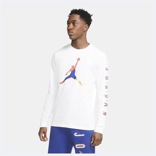 (取寄)ジョーダン メンズ DNA スポーツ ロング スリーブ Tシャツ Jordan Men's DNA Sport Long Sleeve T-Shirt White Track Red