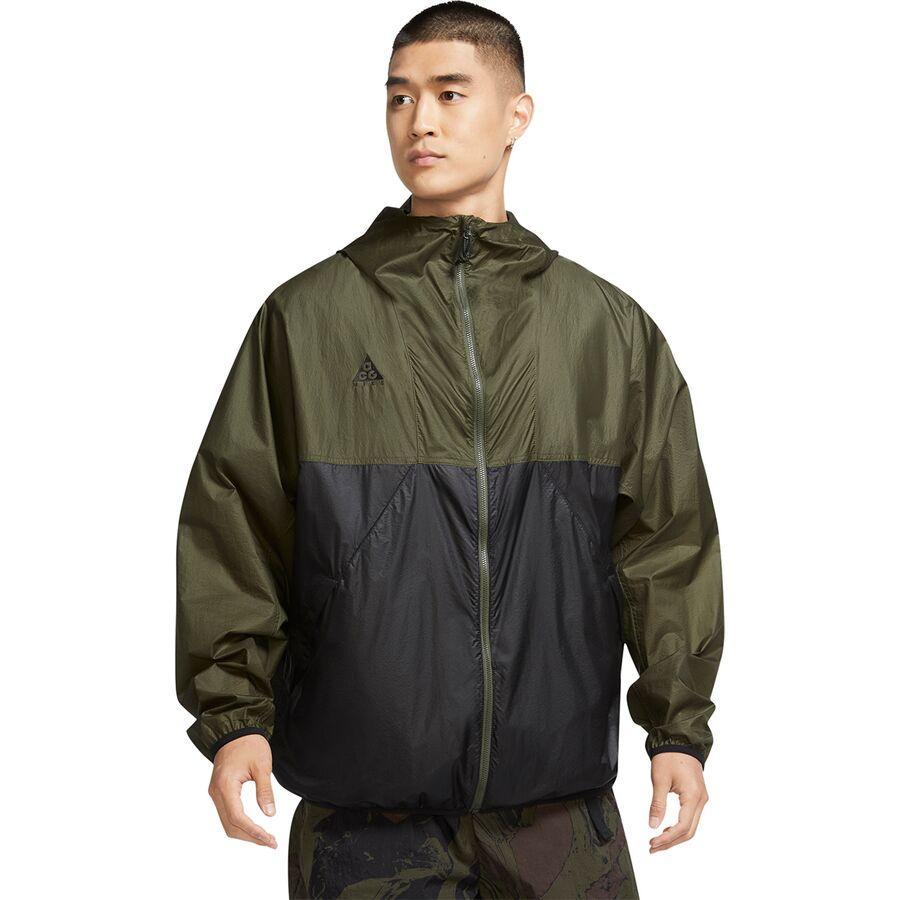 (取寄)ナイキ メンズ NRG ACG ライトウェイト ジャケット Nike Men's NRG ACG Lightweight Jacket Cargo Khaki/Black