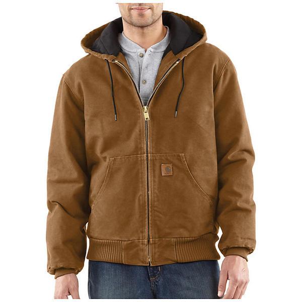 (取寄)カーハート メンズ キルテッド フランネル ライン サンドストーン アクティブ ジャケット Carhartt Men's Quilted Flannel Lined Sandstone Active Jacket Carhartt Brown