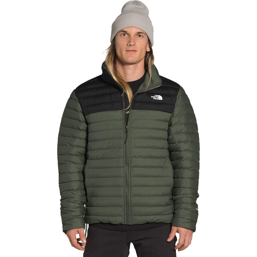 (取寄)ノースフェイス メンズ ストレッチ ダウン ジャケット The North Face Men's Stretch Down Jacket New Taupe Green/TNF Black