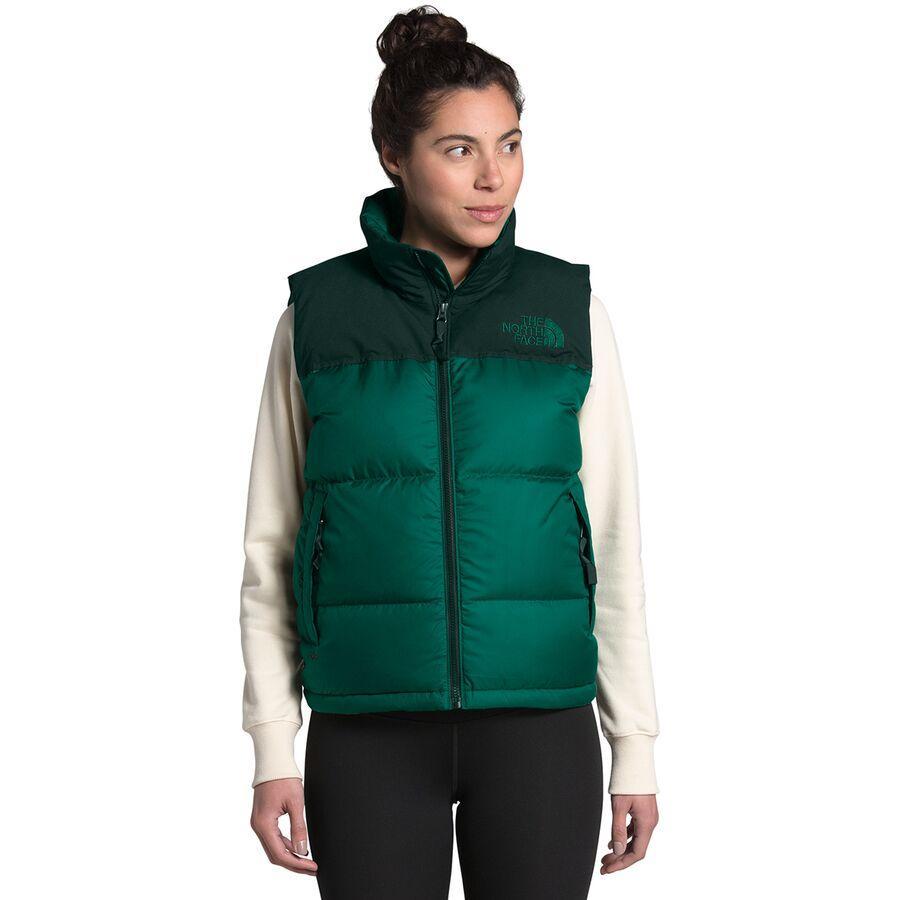 ハイキング 登山 マウンテン アウトドア ウェア アウター 時間指定不可 山ガール ファッション ブランド 大きいサイズ ビッグサイズ 取寄 ノースフェイス ダウンベスト Face 期間限定特価品 Eco North Evergreen Green Women エコ Nuptse Scarab ヌプシ レディース Vest ベスト The