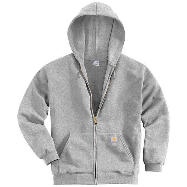 (取寄)カーハート メンズ ミッドウエイト フーデット ジップ フロント スウェットシャツ Carhartt Men's Midweight Hooded Zip Front Sweatshirt Heather Grey