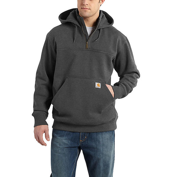 (取寄)カーハート メンズ レイン ディフェンダー パクストン ヘビーウェイト フーデット ジップ モック スウェットシャツ Carhartt Men's Rain Defender Paxton Heavyweight Hooded Zip Mock Sweatshirt Carbon Heather