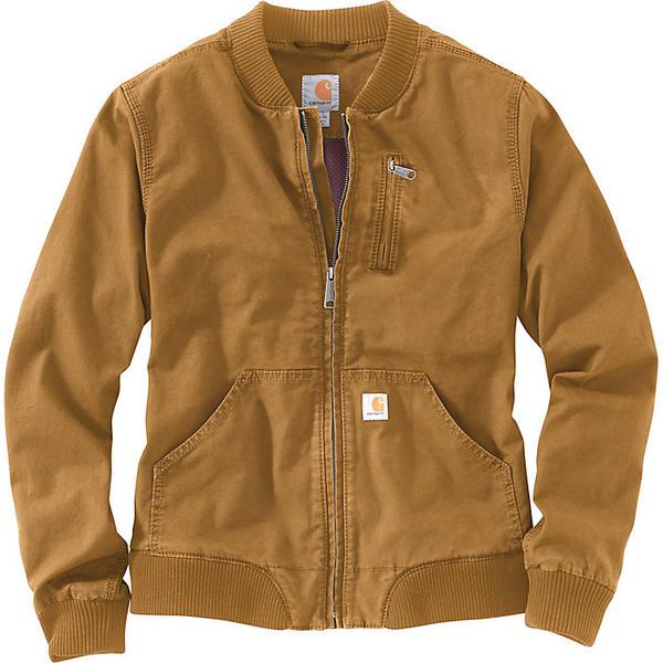 Carhartt カーハート ジャケット ハイキング 登山 マウンテン アウトドア ウェア 直営店 アウター ファッション ブランド Brown 無料サンプルOK Women's レディース Crawford クロフォード ビックサイズ ボンバー Jacket 取寄 大きいサイズ Bomber