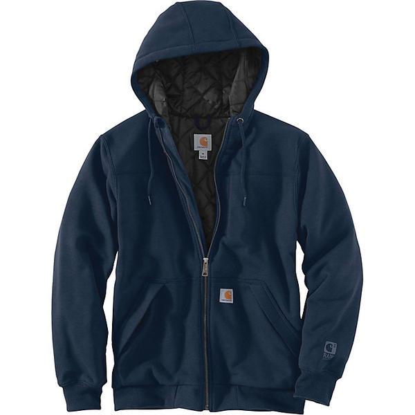 (取寄)カーハート メンズ レイン ディフェンダー ロックランド キルトラインド フルジップ フーデット スウェットシャツ Carhartt Men's Rain Defender Rockland Quilt-Lined Full-Zip Hooded Sweatshirt New Navy