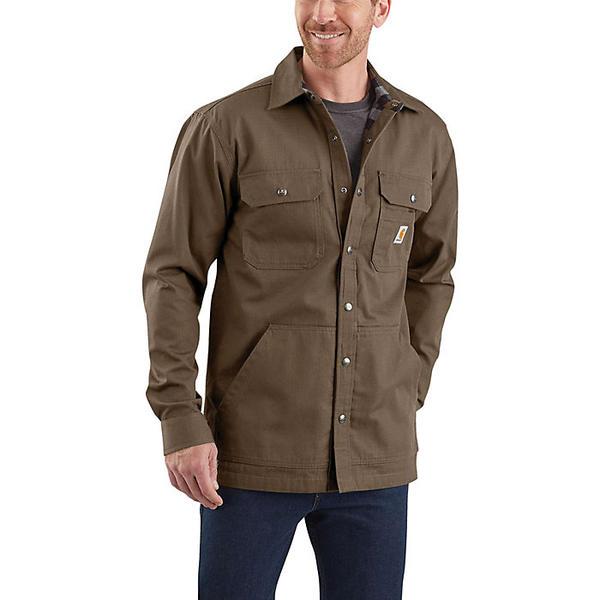 (取寄)カーハート メンズ リップストップ ソリッド シャツ ジャック Carhartt Men's Ripstop Solid Shirt Jac Canyon Brown