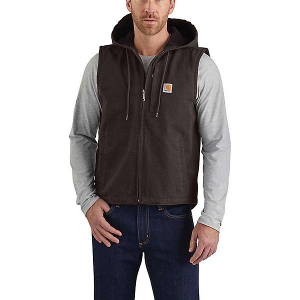 (取寄)カーハート メンズ ダック ノックスビル ベスト Carhartt Men's Duck Knoxville Vest Dark Brown DKB