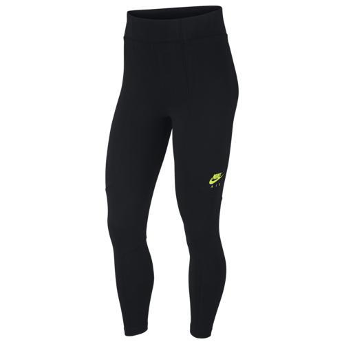 完成品 (取寄)ナイキ レディース エア 7/8 レギンス Nike Women's Air 7/8 Leggings Black Black Volt, 桜井市 a301ba11