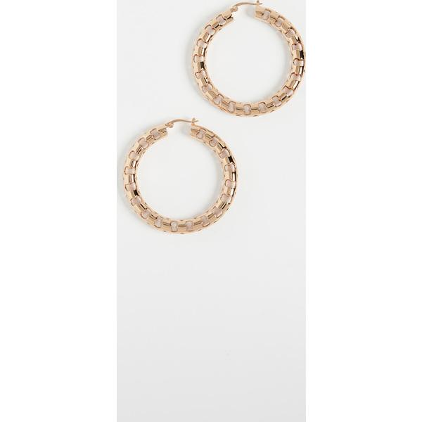 (取寄)トリーバーチ レディース セリフ フレットワーク フープ ピアス Tory Burch Women's Serif Fretwork Hoop Earrings ToryGold