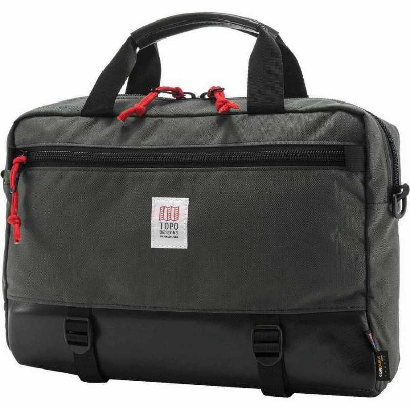ユニセックス ブリーフケース Designs Commuter Charcoal/Black 13L Men's コミューター Briefcase Leather (取寄)トポデザイン Topo