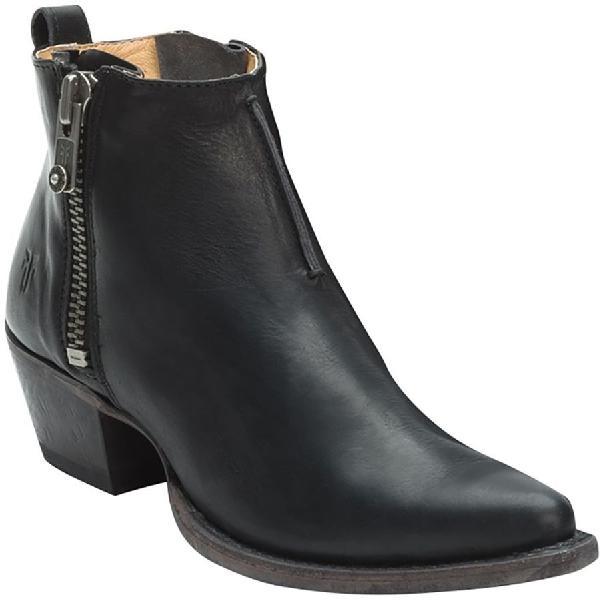 (取寄)フライ レディース サシャ モト ショーティ ブーツ Frye Women Sacha Moto Shortie Boot Black 【コンビニ受取対応商品】
