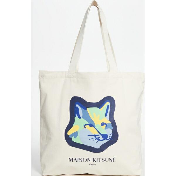 Neon ネオン (取寄)メゾンキツネ フォックス ヘッド Fox Head Kitsune Maison Tote トート Ecru