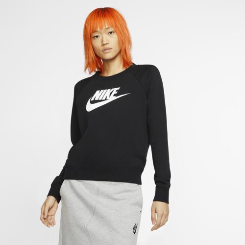 NIKE 豪華な ナイキ トップスロング ファッション 入手困難 ブランド 取寄 レディース エッセンシャル クルー フリース Essential Fleece Crew HBR Women's Black Nike 送料無料 White