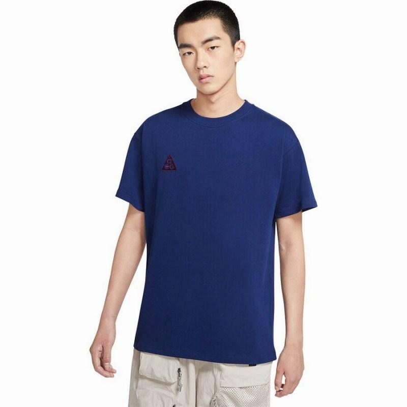 ハイキング 登山 マウンテン アウトドア ウェア アウター 大きいサイズ ビッグサイズ 取寄 ナイキ メンズ NRG 日本メーカー新品 ACG ロゴ T-Shirt 在庫一掃 Dark Void Beetroot Nike Logo Blue ショートスリーブ Men's Short-Sleeve Tシャツ