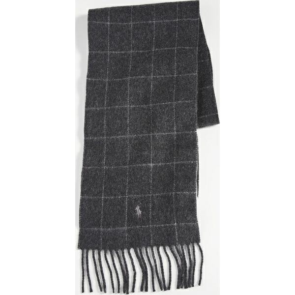 Scarf (取寄)ポロ Reversible ラルフローレン ウィンドウペン CharcoalHeather Polo Ralph リバーシブル Lauren Windowpane スカーフ