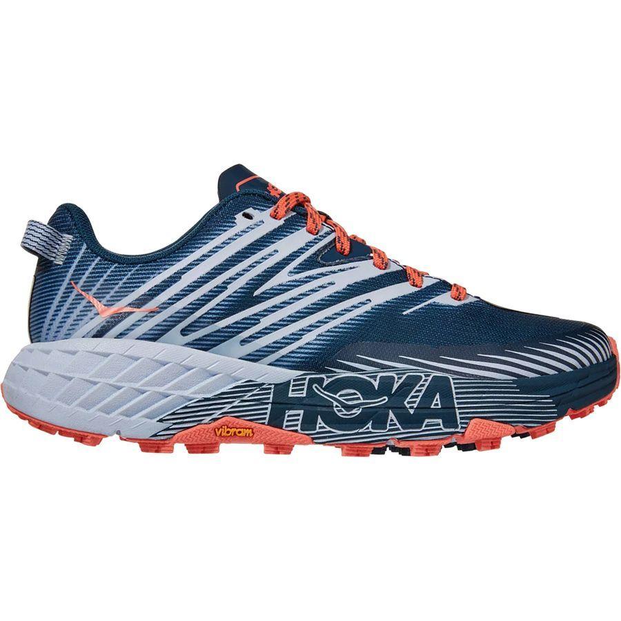 スニーカー メーカー再生品 シューズ 靴 ファッション ブランド ご予約品 ストリート レディース 大きいサイズ 取寄 ホカ オネ スピードゴート 4トレイル HOKA Running ランニング Women Blue Speedgoat Trail Majolica 4 ONE Heather Shoes Shoe