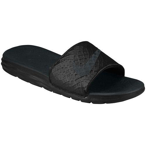 NIKE Nike Sandals men s Benassi solar soft slide 2 Nike Men s Benassi  Solarsoft Slide 2 Black Anthracite 02P28Sep16 00496e086
