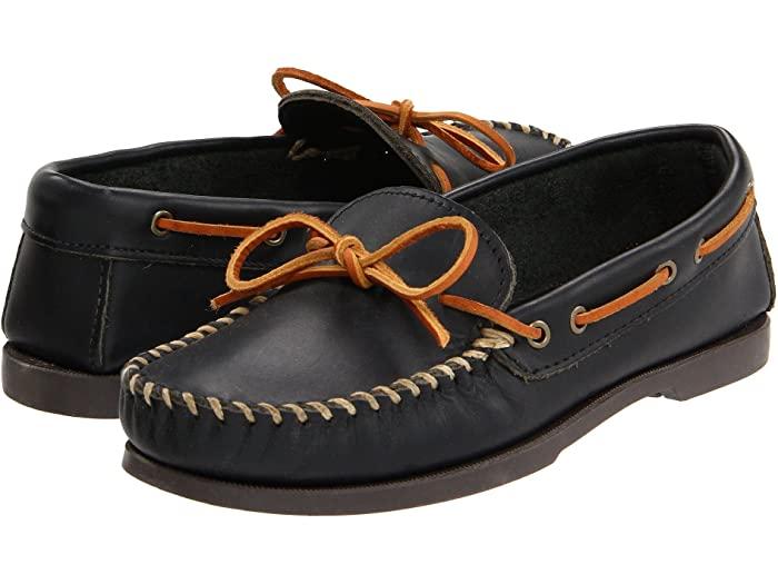 Minnetonka ミネトンカ メンズ 特売 シューズ デッキシューズ ドライビングシューズ Shoes Boots ブランド Mocc モック Leather Men's Smooth 取寄 ☆新作入荷☆新品 キャンプ Camp Black