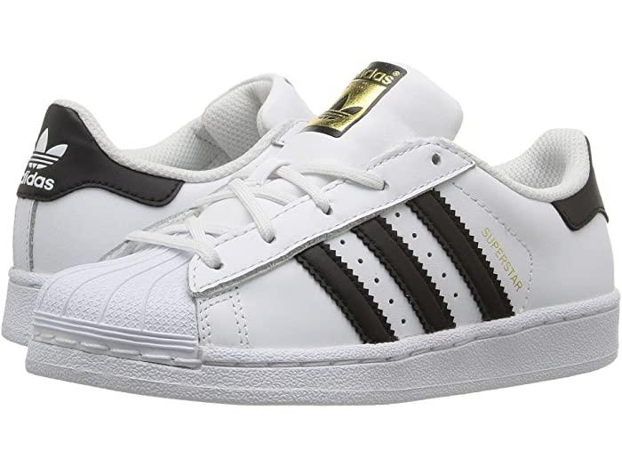 adidas Originals アディダス オリジナルス シューズ キッズ スニーカー ブランド 有名な ジュニア カジュアル ストリート 大きいサイズ スーパースター White Kids リトル Black ビックサイズ Little 取寄 Superstar Kid 1 市販