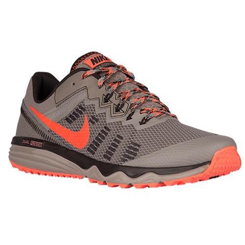 (索取)耐克人双重混合音乐跟踪2 Nike Men's Dual Fusion Trail 2 Light Taupe Total Crimson Brown