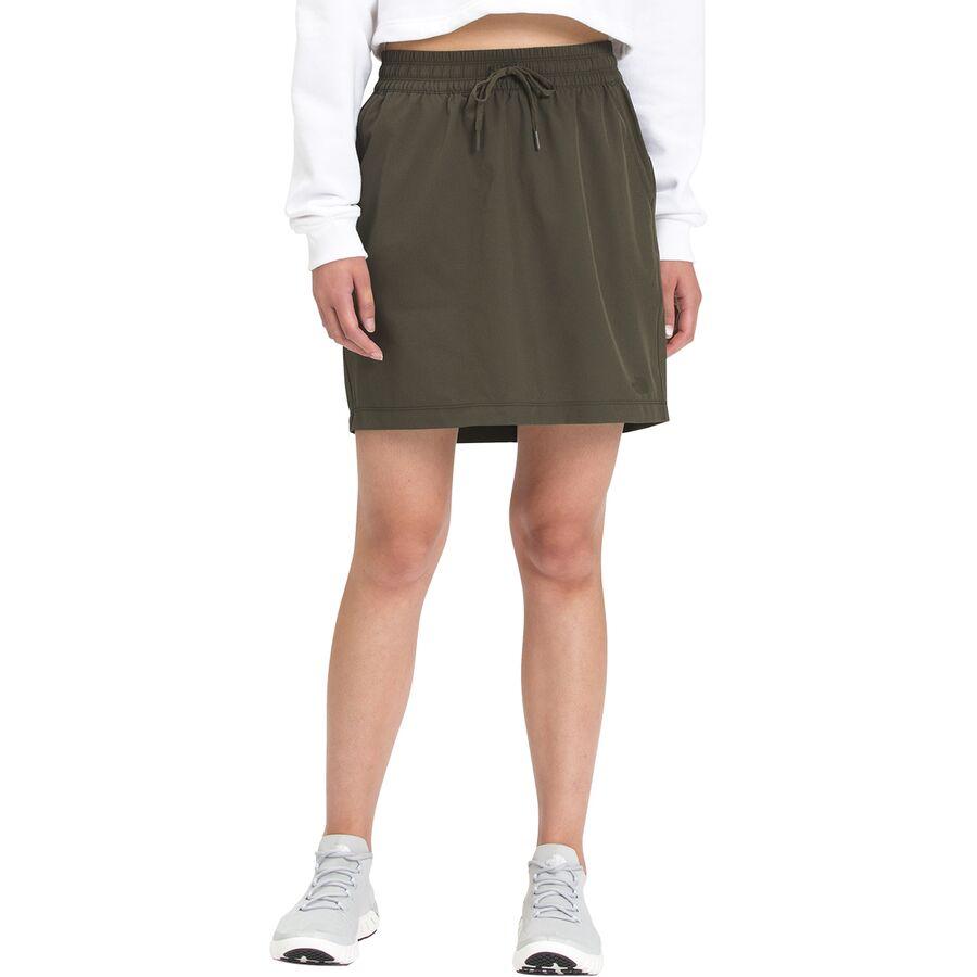 The North Face ノースフェイス 海外並行輸入正規品 スカート レディース ショート アウトドア 2020秋冬新作 ブランド カジュアル 取寄 ネバー New Green ウィメンズ - Skirt Women's Never ウェアリング Wearing Taupe ストップ Stop
