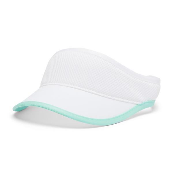 Columbia コロンビア サンバイザー 帽子 キャップ ブランド 登山 アウトドア カジュアル ストリート 出色 Visor Cay 取寄 Crest White クレスト Uptown 定価 Mint バイザー アップタウン