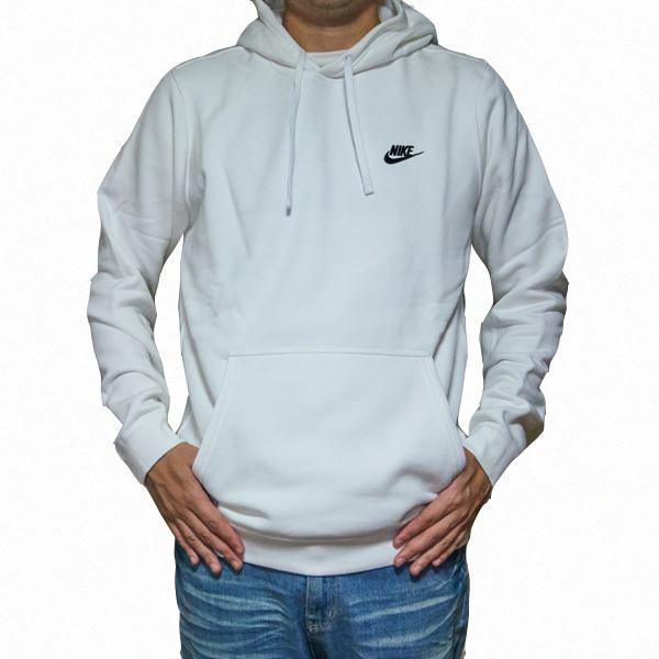 febeb1628 NIKE hoodies white Nike men's custom logo parka White Club pullover Hoody  Nike Men's NSW Club ...