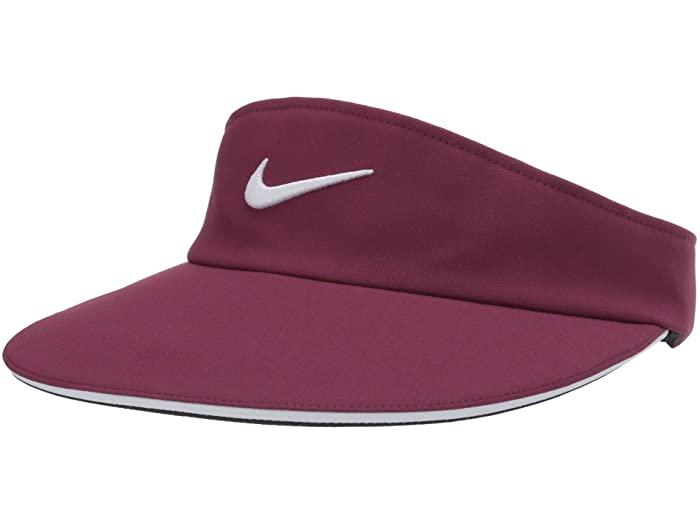 NIKE ナイキ レディース サンバイザー キャップ 卓越 本物 帽子 スポーツ ブランド カジュアル ストリート ファッション 取寄 Statement Villian Visor Aerobill Nike Red ステイトメント エアロビル バイザー Women's White