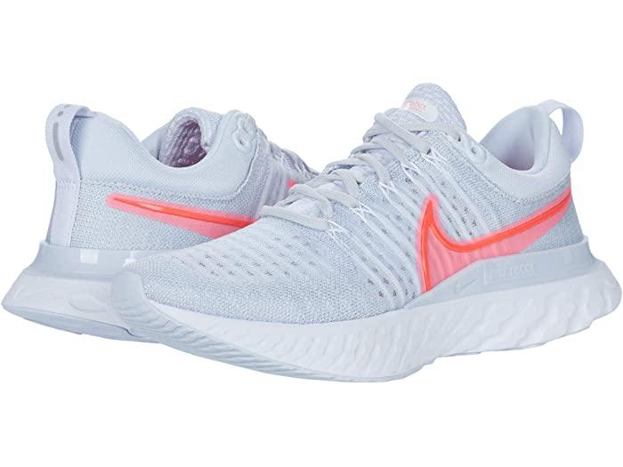 (取寄)ナイキ レディース リアクト インフィニティ ラン フライニット 2 Nike Women's React Infinity Run Flyknit 2 Pure Platinum/Bright Crimson