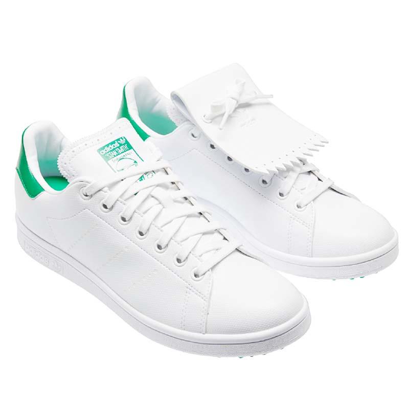 アディダス メンズ ゴルフシューズ Q46252 靴 ブランド スポーツ 男性 大きいサイズ ビックサイズ 激安超特価 カジュアル ファッション ゴルフ スパイクレス おしゃれ シューズ Golf ローカット Shoe Smith ホワイト グリーン White 送料無料 SEAL限定商品 スタンスミス 敬老の日 Green Stan adidas