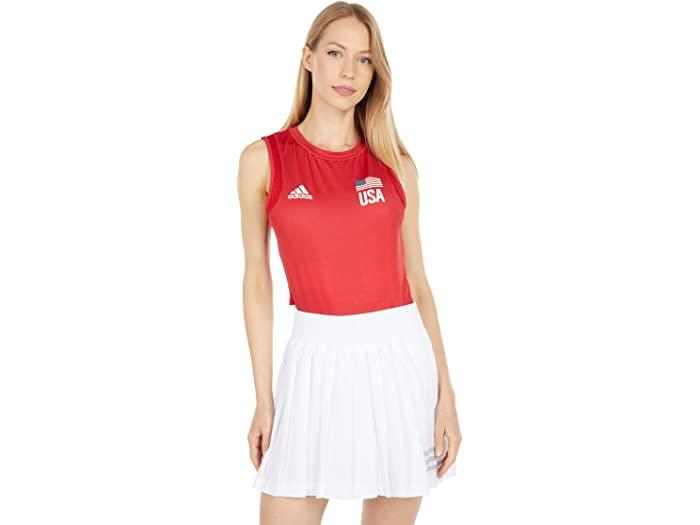 adidas アディダス レディース 18%OFF バレーボール シャツ ファクトリーアウトレット ウェア トップス 女性 ブランド スポーツ 大きいサイズ ビックサイズ 取寄 Jersey Red Blue USA ジャージ プライムブルー Power Women's Primeblue Vivid Team Volleyball Navy