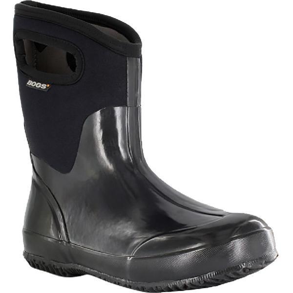(取寄)ボグス レディース クラシック ミッド ハンドル ブーツ Bogs Women Classic Mid Handle Boot Black Shiny 【コンビニ受取対応商品】