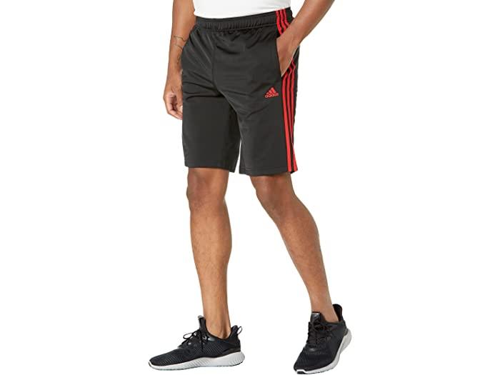 adidas アディダス メンズ パンツ スポーツ フィットネス トレーニング ブランド ジム ウェア 高品質 男性 大きいサイズ ビックサイズ ストリート ショーツ 3-Stripes エッセンシャル Vivid Tricot 取寄 トリコット Shorts Red 授与 Men's 3ストライプ Black Essentials