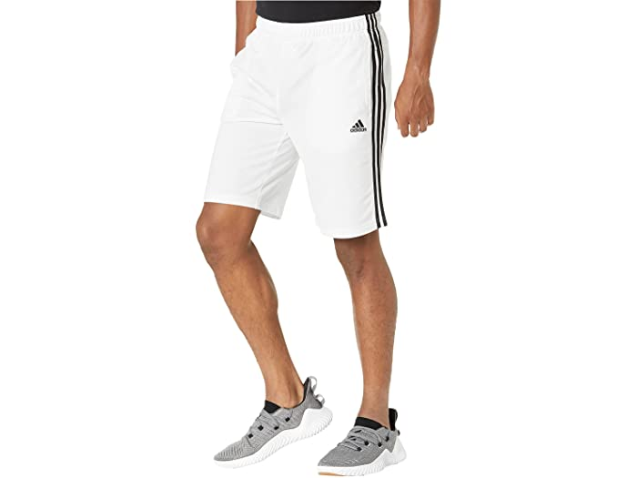 adidas アディダス メンズ パンツ スポーツ フィットネス トレーニング ブランド ジム ウェア 超安い 男性 大きいサイズ ビックサイズ トリコット エッセンシャル 3-Stripes White Black 3ストライプ Essentials ストリート 取寄 ショーツ 特価 Men's Shorts Tricot