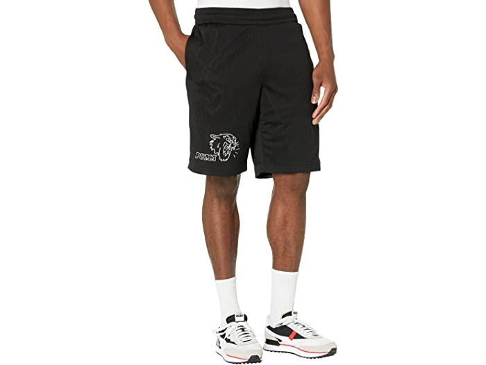 PUMA プーマ メンズ パンツ スポーツ フィットネス トレーニング ブランド ジム 送料無料カード決済可能 ウェア 男性 保証 大きいサイズ Black ショーツ ビックサイズ Mesh プラクティス Shorts Men's Practice ストリート 取寄 メッシュ