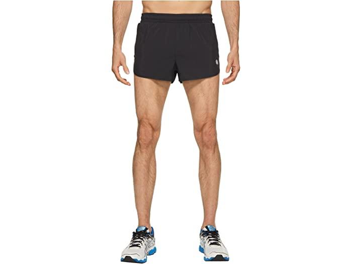 ASICS 割引も実施中 アシックス メンズ パンツ スポーツ フィットネス 激安通販専門店 トレーニング ブランド ジム ウェア 男性 大きいサイズ ストリート ショーツ Men's ラン Black Performance Split Shorts スプリット 取寄 Run ビックサイズ