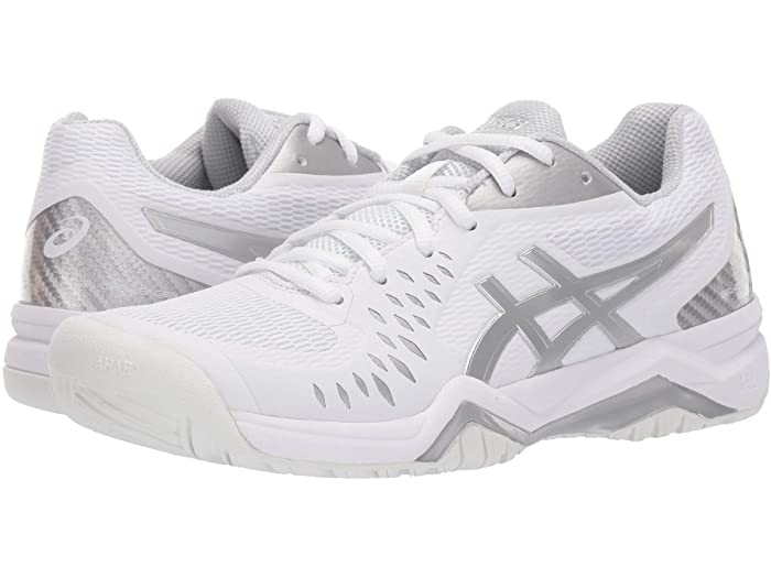 ASICS アシックス 新商品!新型 レディース シューズ 靴 テニス スポーツ ブランド 女性 Gel-Challenger 大きいサイズ 取寄 Silver 12 特価 ビックサイズ Women's White
