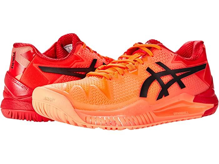 ASICS アシックス レディース シューズ 靴 テニス 100%品質保証 スポーツ ブランド 女性 大きいサイズ 取寄 Black Eclipse Red ビックサイズ 大幅にプライスダウン 8 Women's Gel-Resolution Sunrise