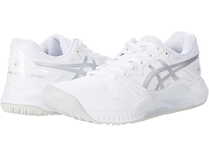ASICS アシックス レディース シューズ 靴 テニス スポーツ ブランド 女性 ギフト 品質保証 GEL-Challenger White 大きいサイズ 取寄 ビックサイズ Pure Silver 13 Women's