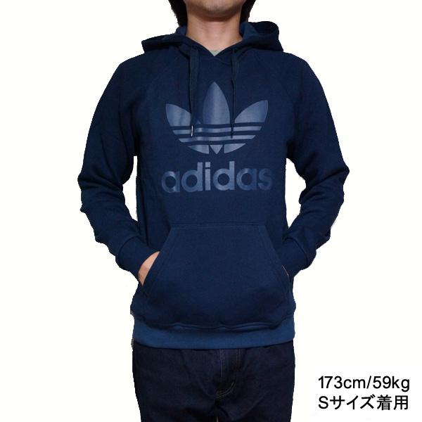 Adidas originals Hoodie mens trefoil Hoody sweat parka Navy adidas  Originals Men's Trefoil Collegiate Navy support
