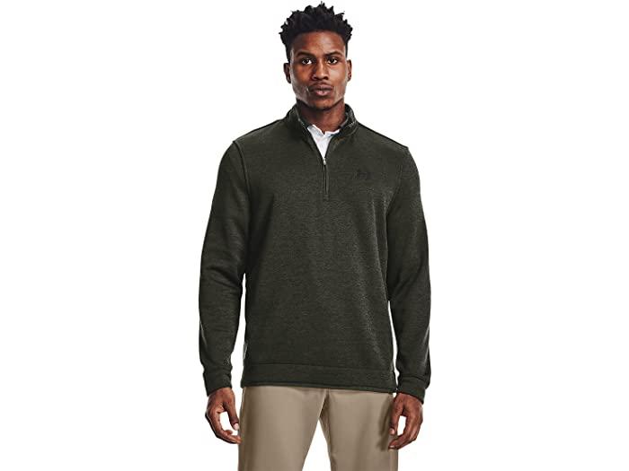 Under Armour アンダーアーマー メンズ トップス スウェット トレーナー ブランド ゴルフ スポーツ カジュアル ふるさと割 男性 大きいサイズ ビックサイズ 取寄 ストーム 最新アイテム フリース Black 4 レイヤー Storm Men's ジップ Layer Fleece 1 Green Zip Sweater Baroque セーター Golf