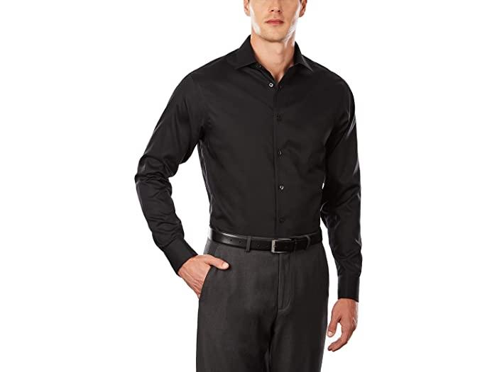 Calvin Klein カルバンクライン メンズ ワイシャツ トップス ブランド ファッション 限定タイムセール 大きいサイズ ビックサイズ 卓抜 取寄 ドレス シャツ レギュラー フィット ノン Shirt カフ アイロン フレンチ ヘリンボーン Regular Dress Black Non French Fit Iron Cuff Herringbone Men's
