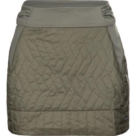 10%OFF Mountain Hardwear マウンテンハードウェア スカート レディース ショート アウトドア ブランド カジュアル 公式通販 取寄 トレッキン Green Skirt ミニ ウィメンズ インサレーテッド Mini Women's Insulated - Trekkin Stone