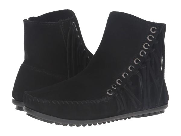 (取寄)ミネトンカ レディース ウィロー ブーツ Minnetonka Women Willow Boot Black Suede