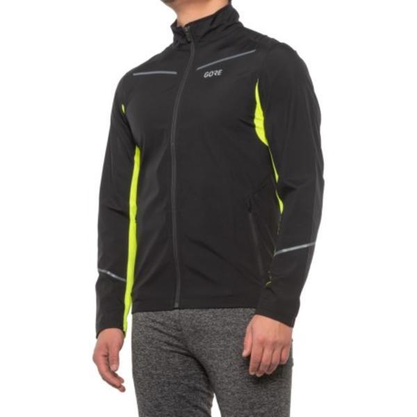 メンズ ジャケット 自転車 サイクリング アウター ブランド 男性 カジュアル ファッション 大きいサイズ ビックサイズ (取寄) メンズ ゴアテックス インフィニアム ジャケット GORE WEAR men GORE WEAR R3 Partial Gore-Tex INFINIUM Jacket (For Men) Black/Neon Yellow