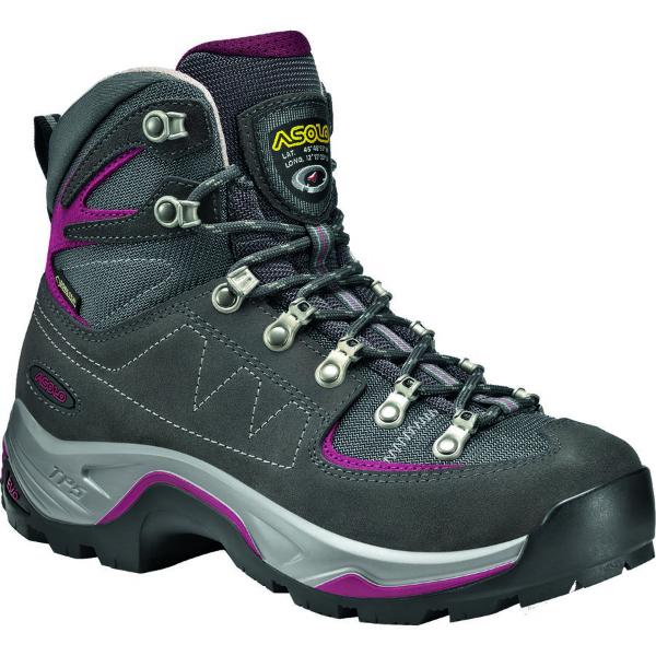 (取寄)アゾロ レディース TPS Equalon GV バックパッキング ブーツ Asolo Women TPS Equalon GV Backpacking Boot Graphite/Red Bud